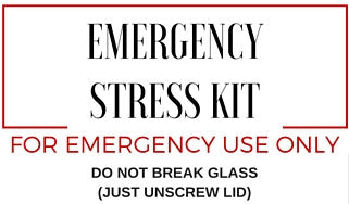emergency stress kit label image