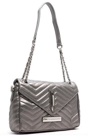Chevron Quilted Shoulder Bag 2