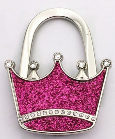 purple tiara purse hanger