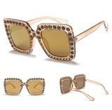 amber studded sunglasses