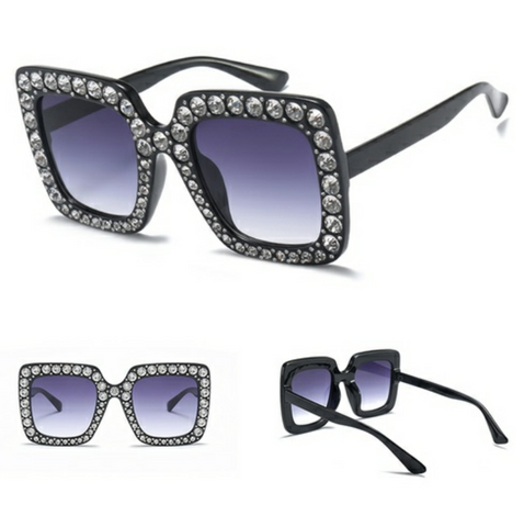 black studded sunglasses