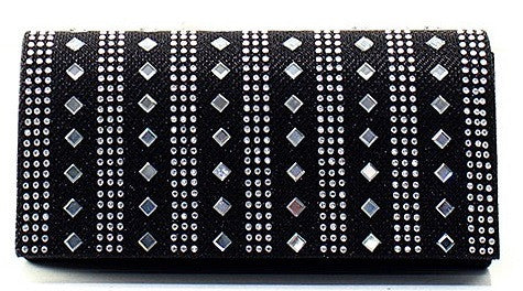 mirrored clutch in black