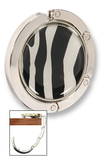 purse hanger zebra on table