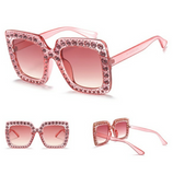rose studded sunglasses