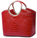 red croc top handle