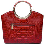 red croc top handle rear