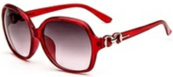 glam sunglasses in red