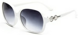 glam sunglasses in white