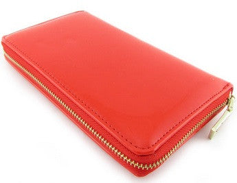 single zip xl wallet in red