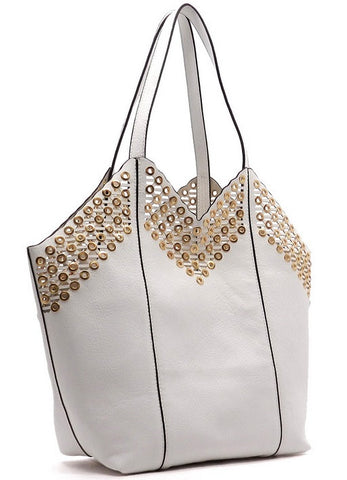 grommet tote in white