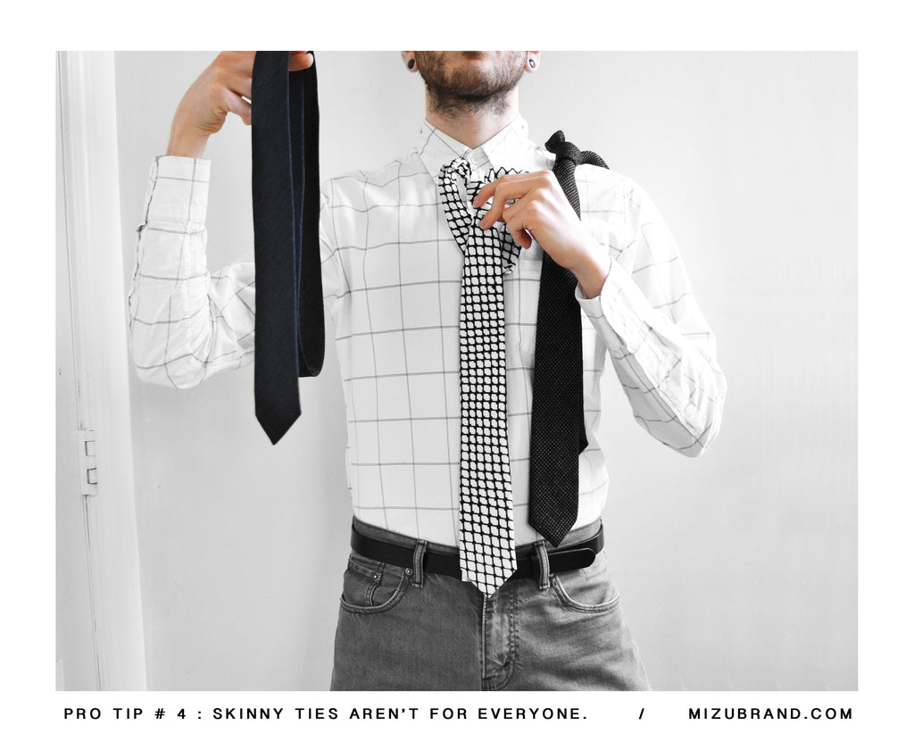 MIZU guide to the right necktie Size