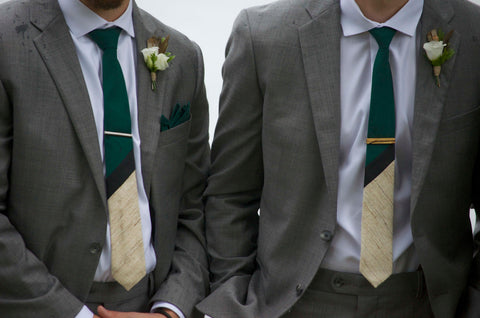 Custom Wedding neckTies by MIZU details