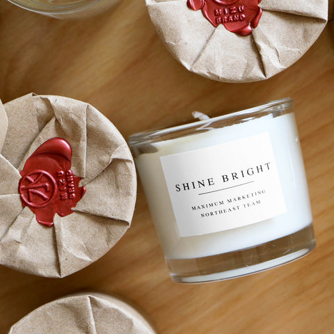 Custom Team and Corporate event gift Logo Candle