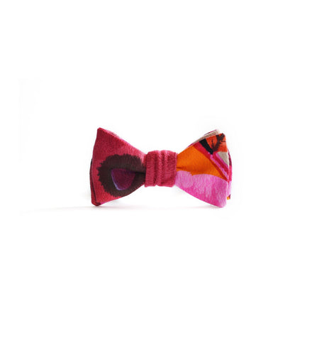 Cotton Bow Tie in Abstract Floral