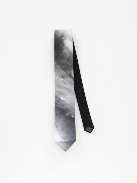 Hand Painted Ash Necktie detail