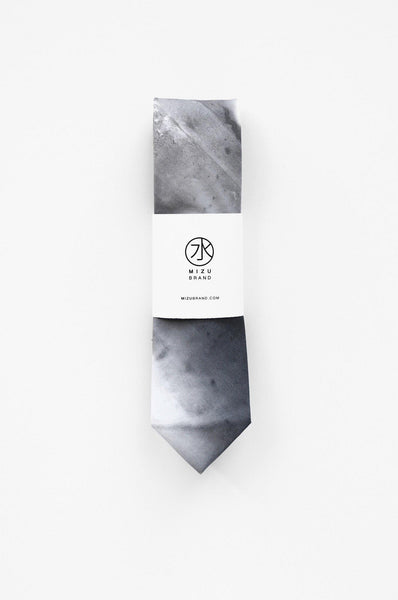 Grey hand painted Ash Necktie wholesale packaging