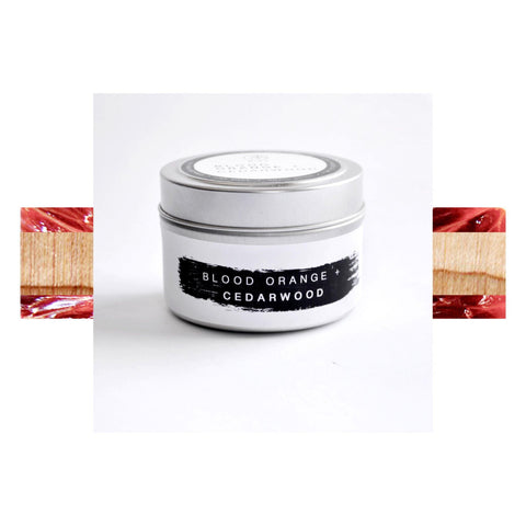 100% Beeswax Travel Candle / BLOOD ORANGE + CEDAR WOOD