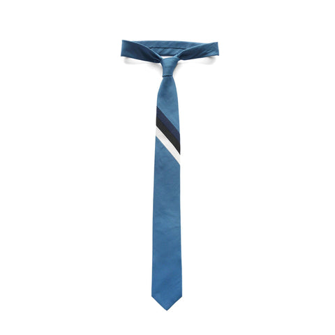 Lagoon Necktie in striped cotton color thumbnail