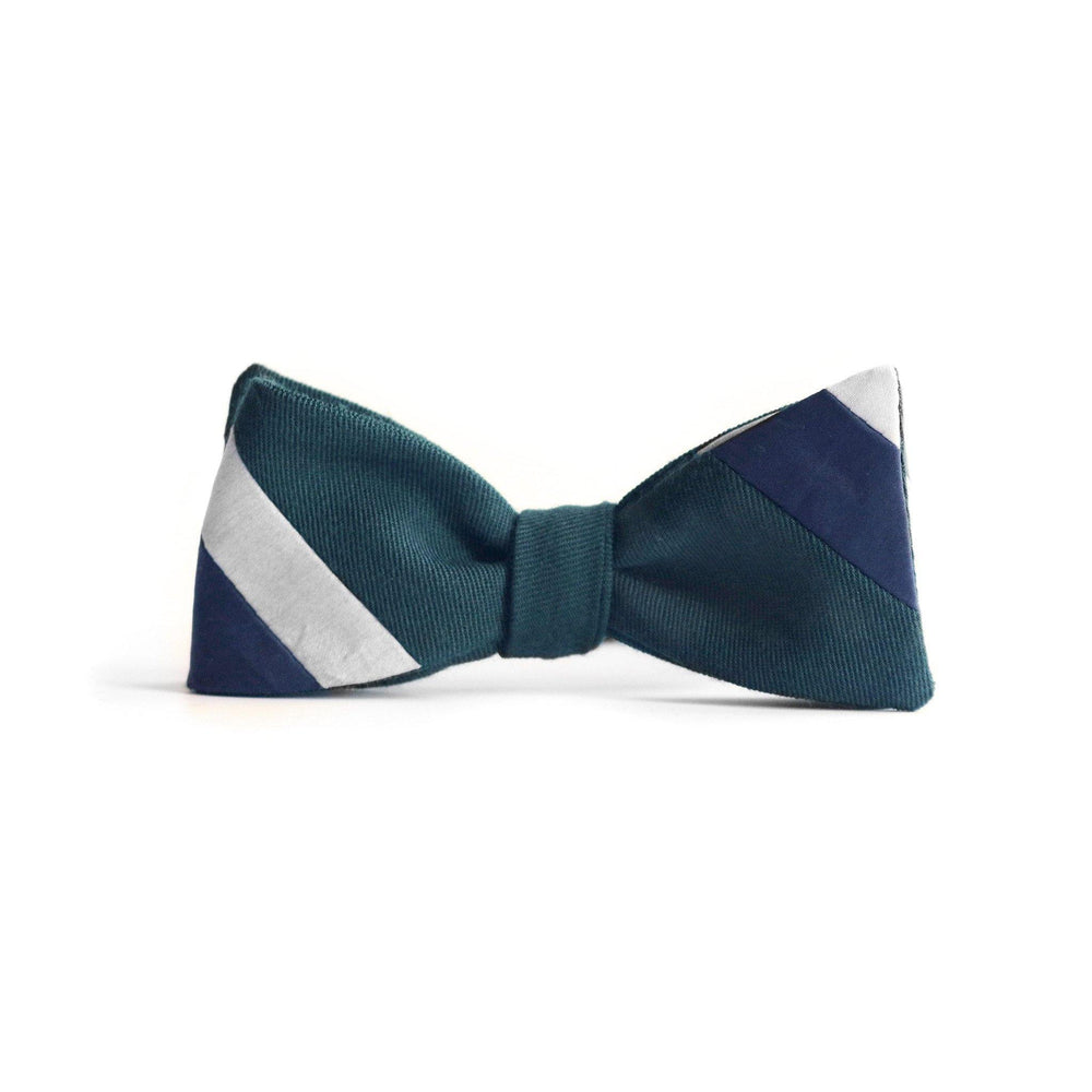 BOMI Stripe Bow Tie in wool thumbnail