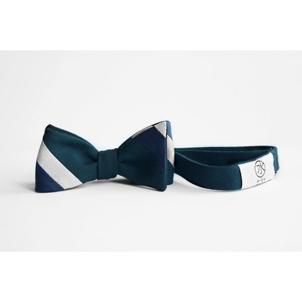 BOMI Stripe Bow Tie in wool full