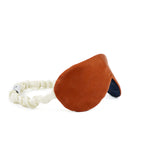 Reversible Travel Sleep Mask in Burnt Orange Silk