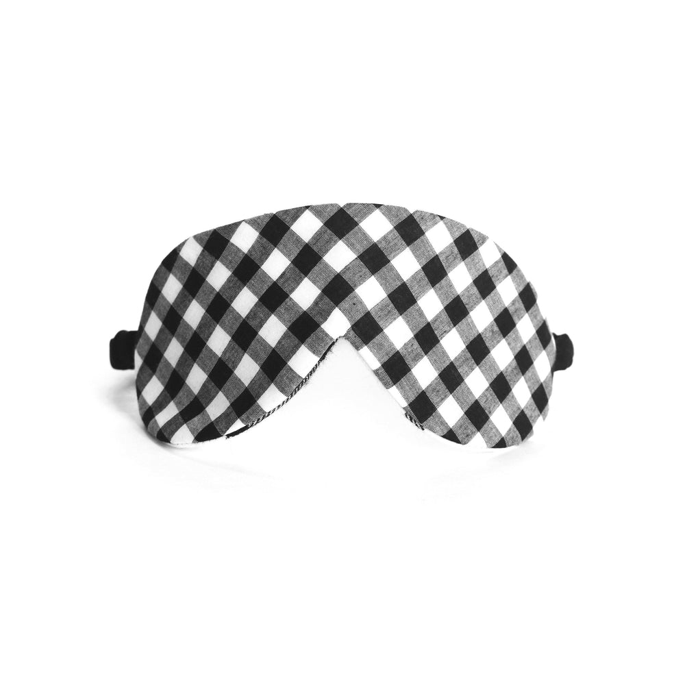 Cotton Flannel Eye Mask in Gingham Grid