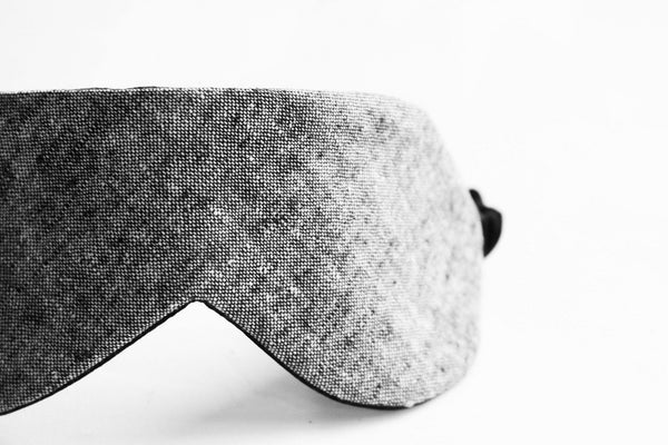 Black Chambray Silk Sleep Mask