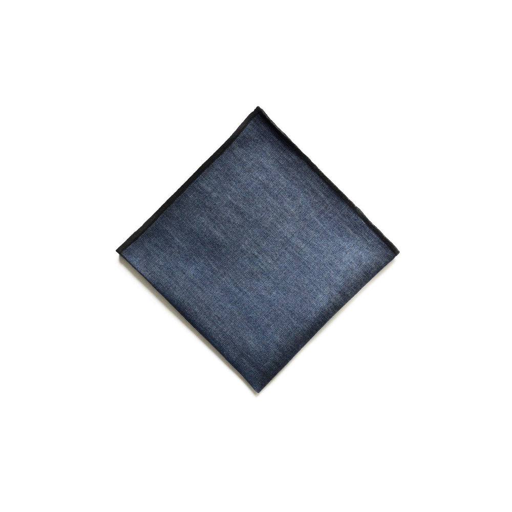 Denim Pocket Square in Lightweight Indigo