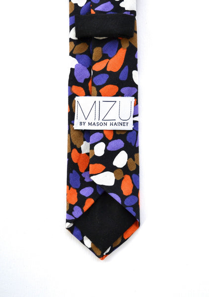 Cotton Necktie in Stained Glass Floral