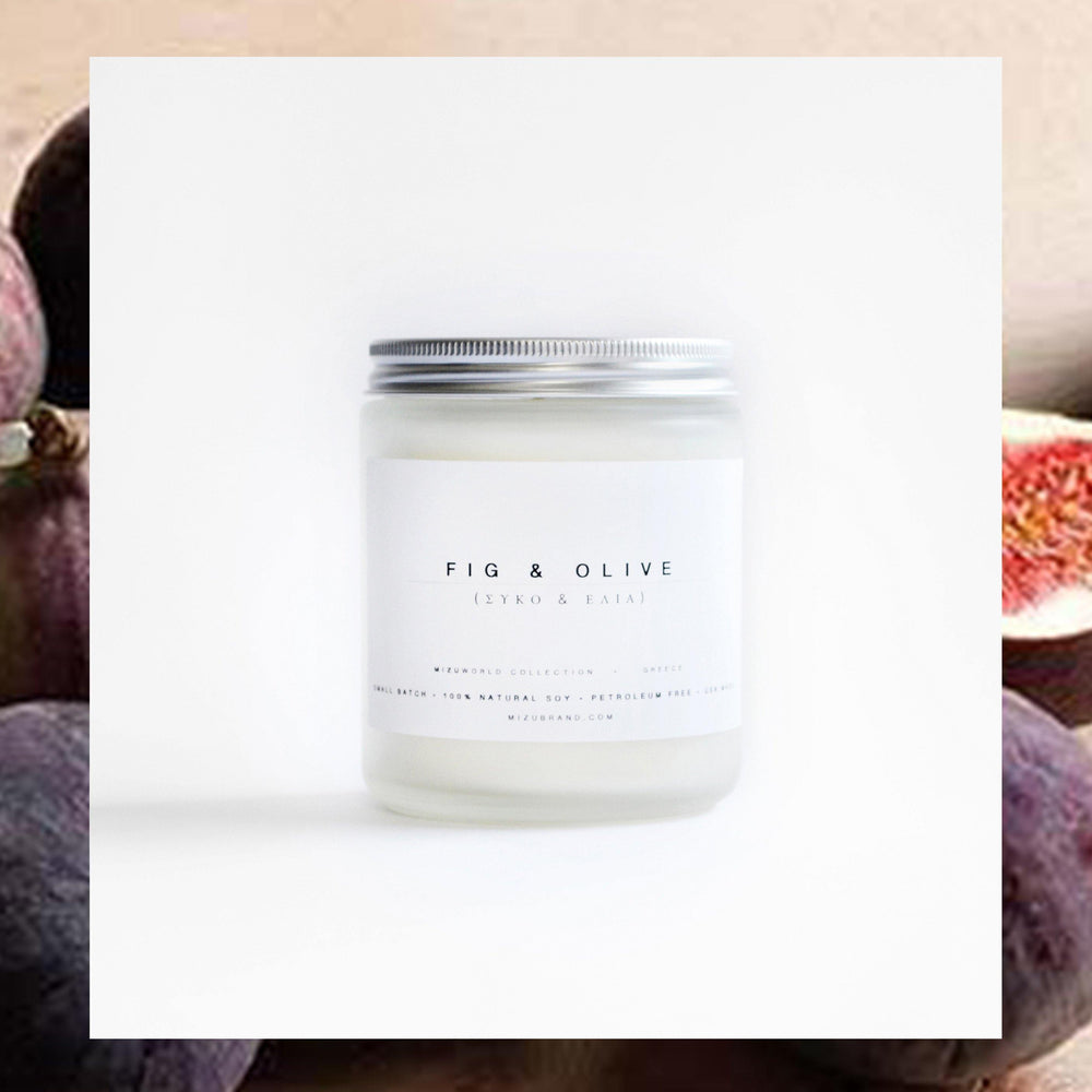 Fig & Olive Soy Candle / GREECE