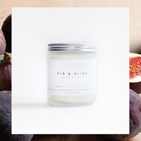 MIZU brand Fig and Olive Natural Soy Candle