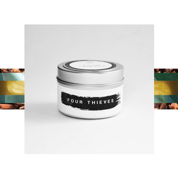 Pure Beeswax Travel Tin Candles : Four Thieves