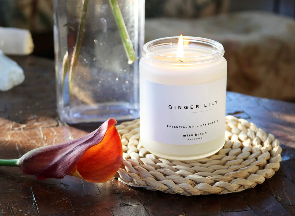 Ginger Lily Essential Oil Candle burn time