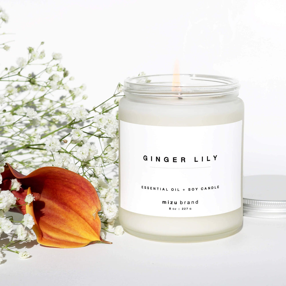 Ginger Lily Essential Oil Candle- LIMITED