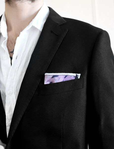 Midnight Sun Pocket Square model look