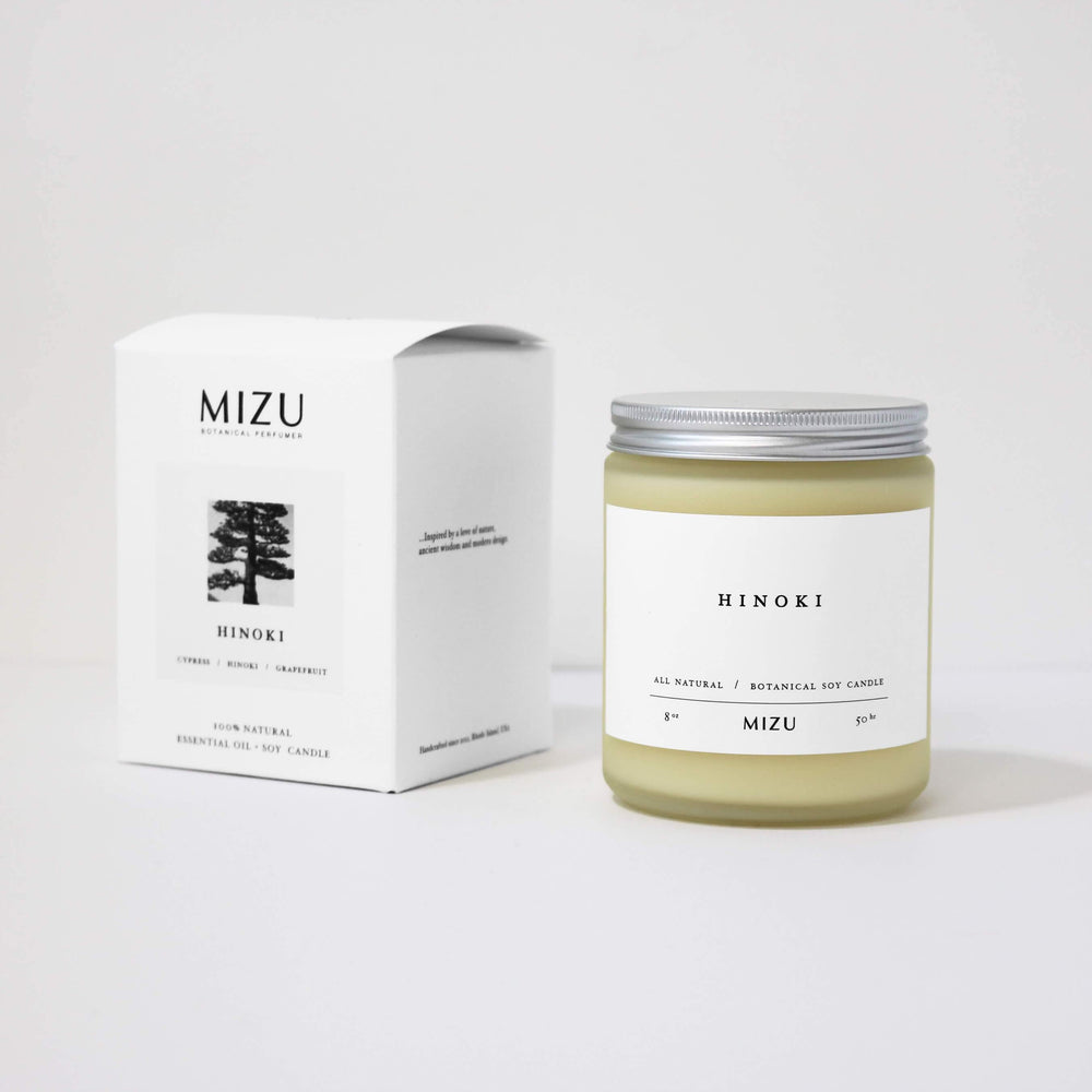 All Natural Candle Minimal Packaging design