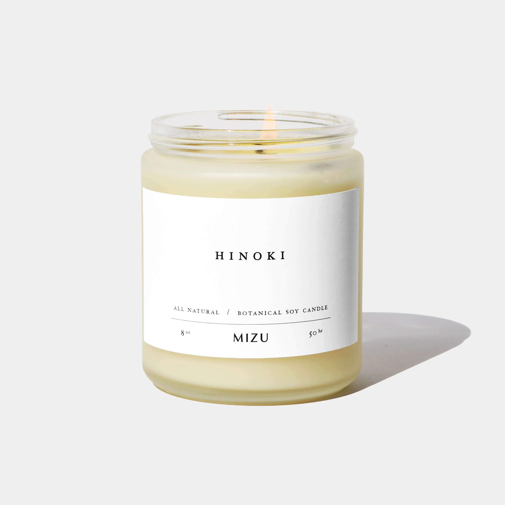 Hinoki Essential Oil Candle by MIZU