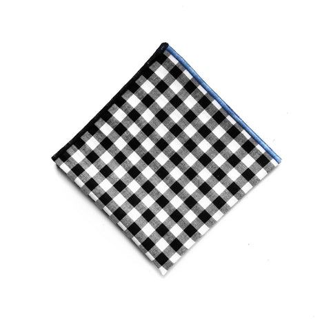 black and white ICEBERG Gingham Pocket Square thumbnail