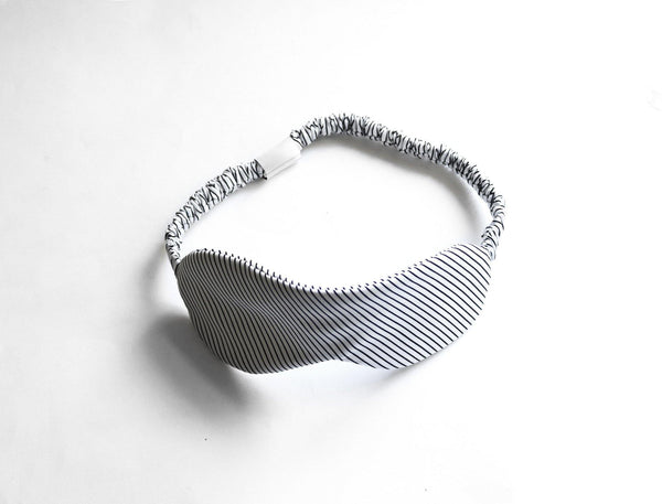 Cotton Stripe ICEBERG Sleep Mask top view