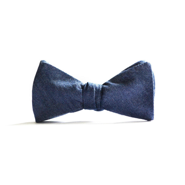 Classic Bow Tie in Midnight Denim