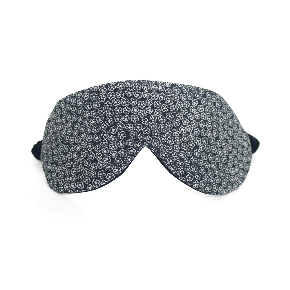 Indigo Windflower Japanese Silk Eye Mask thumbnail