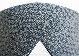 Indigo Windflower eye mask Japanese silk textile detail