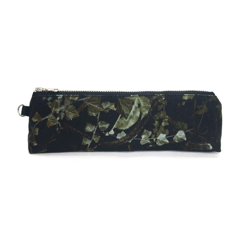Japanese Denim Pencil and accessory case ivy print