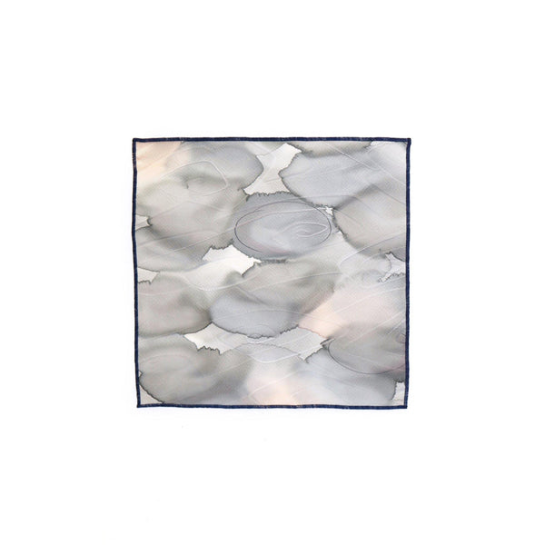 KUMO VINTAGE SILK POCKET SQUARE  FULL