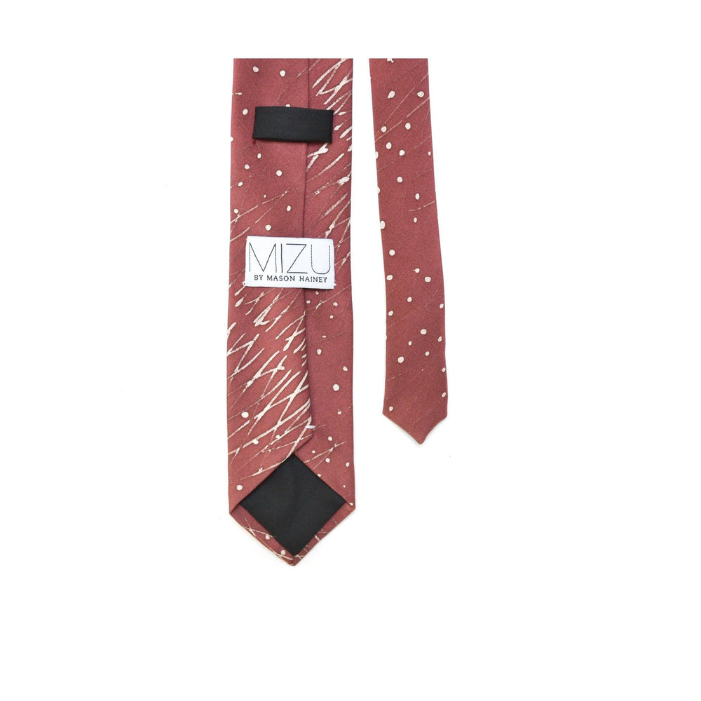 Japanese Silk Necktie in In Rain detail 2