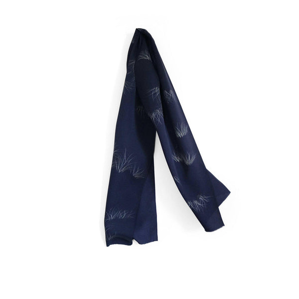 Japanese Silk Scarf in Black Beach thumbnail