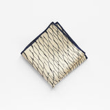 Shibori Japanese Silk Pocket Square contrast hem