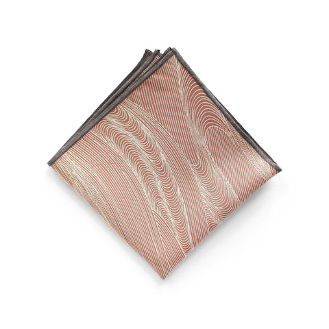 Japanese Silk Pocket Square in Pink Geysir