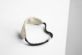 Japanese Silk Shibori Sleep mask  contrast back view