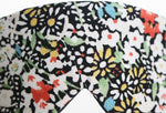 Japanese Silk floral eye mask textile detail